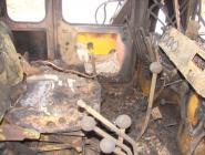 В Коряжме горел трактор-сваебой