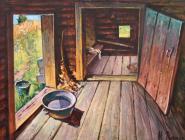 Под Коряжмой сгорела баня