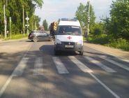 В Вычегодском произошло ДТП с участием автомобиля «Скорой помощи»