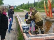 Начались работы по благоустройству фонтана на Набережной